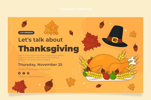 Webinar di ringraziamento piatto disegnato a mano