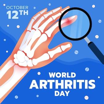Нарисованная рукой плоская иллюстрация дня артрита