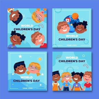 Ручной обращается плоский мир детский день коллекция сообщений instagram