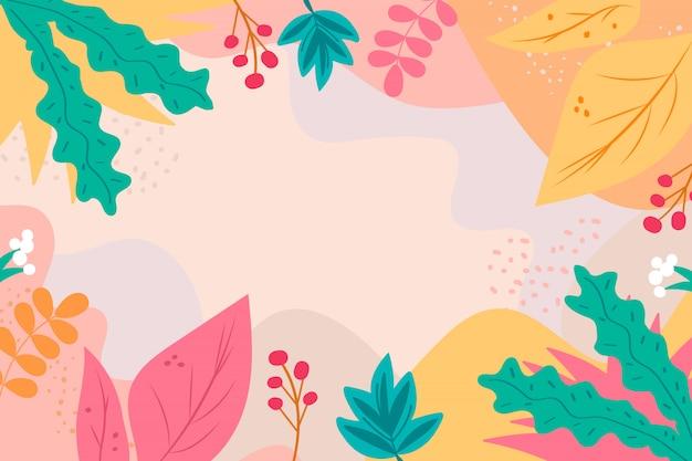 손으로 그린 꽃 추상적 인 배경
