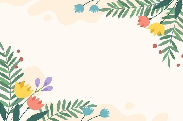 손으로 그린 꽃 배경 디자인