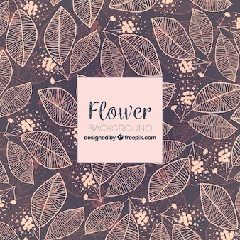 Hand drawn floral background with colorful style