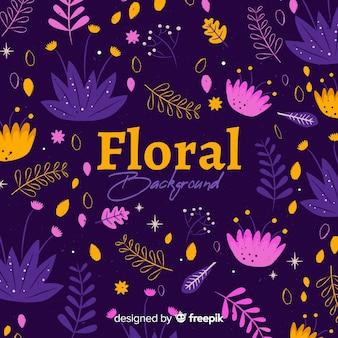 手描きの花の背景