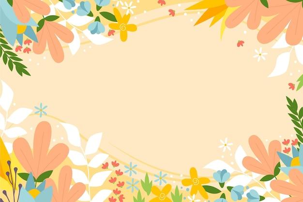 手拉的花卉背景