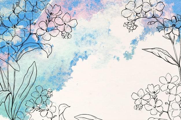 Disegnati a mano sfondo floreale