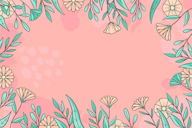 Sfondo floreale disegnato a mano