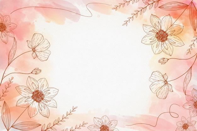 Ручной обращается цветочный фон