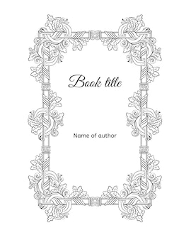 Hand drawn floral book cover concept