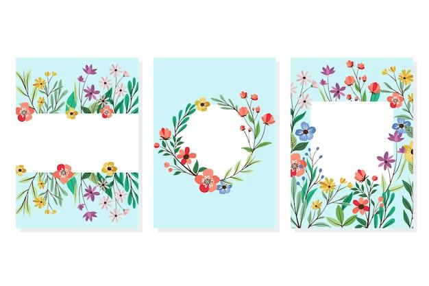 手描き花カードコレクション