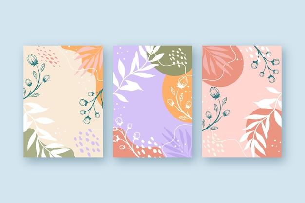 Коллекция рисованной цветочных открыток
