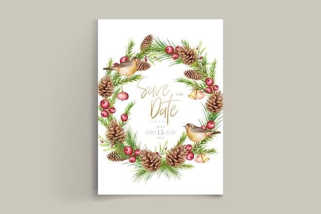 手描きの花のクリスマスの背景セット