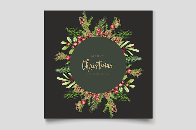 Ручной обращается цветочный рождественский дизайн