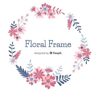 Ручной обращается цветочный круг в рамке