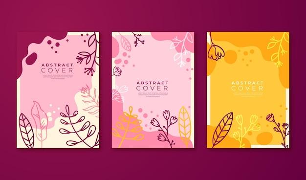 手描きの花のカバーコレクション