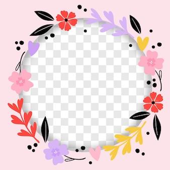 手描きの花のfacebookフレーム
