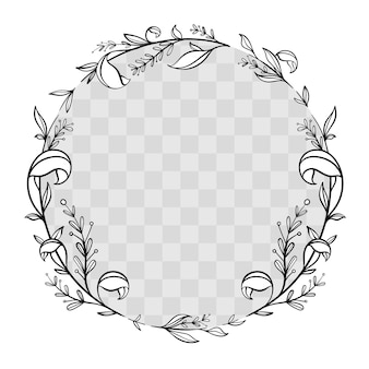 Cornice floreale disegnata a mano di facebook