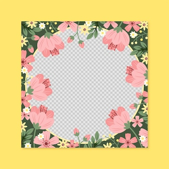 Hand drawn floral facebook frame