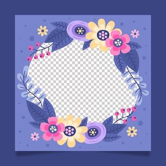 Hand drawn floral facebook frame