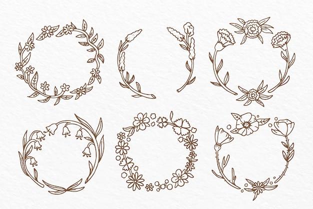 手描き花フレームコレクション
