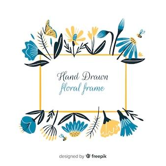 手描きの花のフレーム