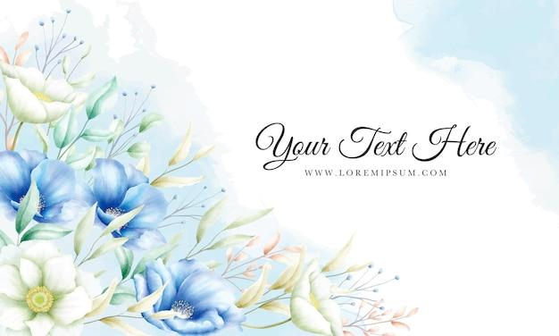 手描きの花の華やかな背景