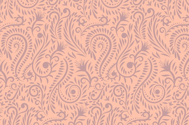 Hand drawn floral pattern background