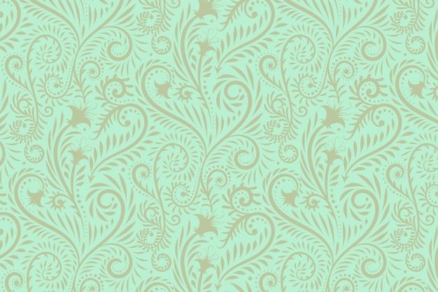 손으로 그린 된 꽃 패턴 배경