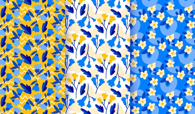 Коллекция рисованной цветочный узор