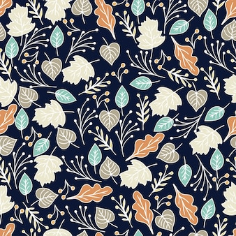 Hand drawn floral seamless pattern with flowers and leaves. summer,spring floral background pattern. illustration