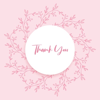 Hand drawn floral thank you card