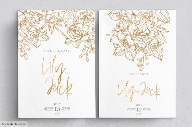 Ручной обращается цветочные свадебные приглашения карты