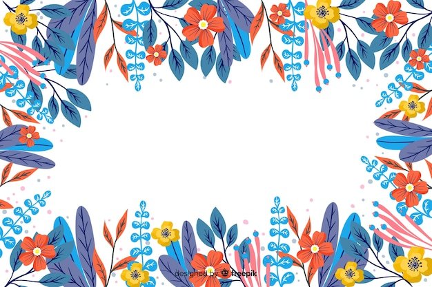 Ручной обращается цветок и листья фон
