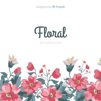 Hand drawn flower background