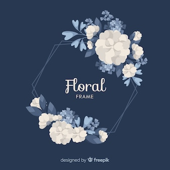 Hand drawn flower frame background