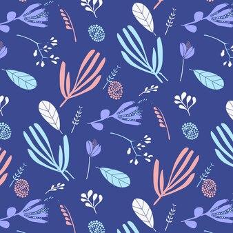 Hand drawn flower pattern background