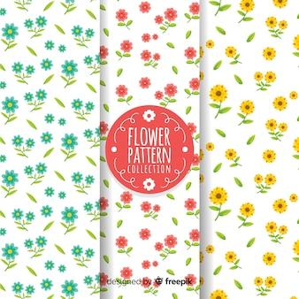 손으로 그린 꽃 패턴 컬렉션