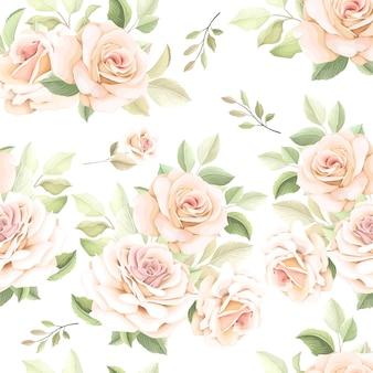 Hand drawn flower seamless pattern