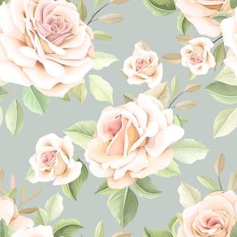 Ручной обращается цветок бесшовные модели