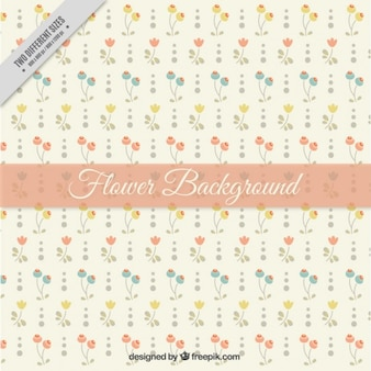 Hand drawn flowers background in vintage style