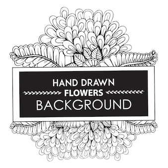 Sfondo di fiori disegnati a mano