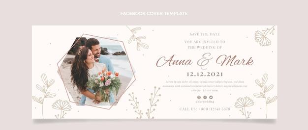 手描きの花の結婚式のfacebookのカバー