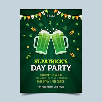 Hand drawn flyer for st. patrick's day celebration