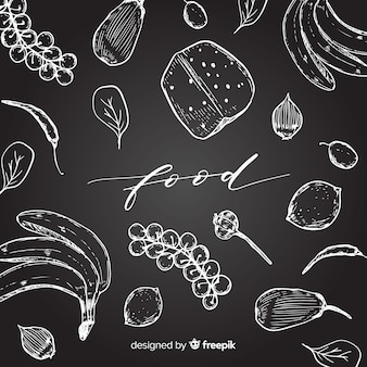 Hand drawn food background