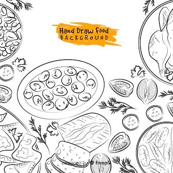 Hand drawn food background