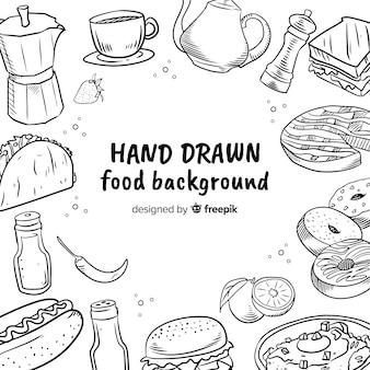 Ручной обращается еда фон