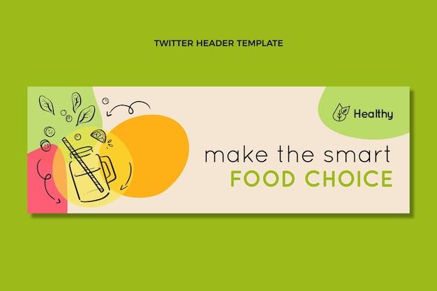 手描きの食べ物の選択twitterヘッダー