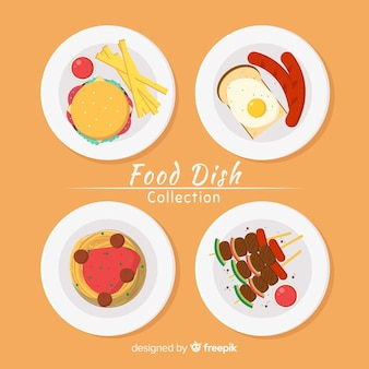 Hand drawn food dish pack