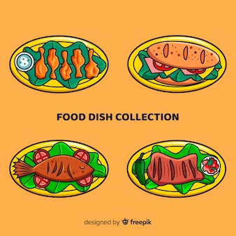 Hand drawn food dish pack