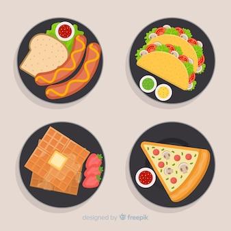 Набор рисованной посуды