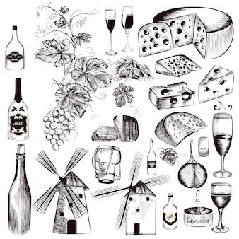 手描き食品の要素